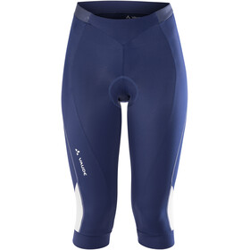 VAUDE Advanced II fietsbroek kort Dames blauw